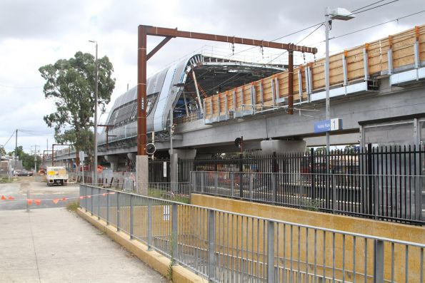 Elevated station taking shape at Noble Park