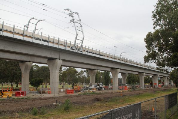 Completed viaduct at Noble Park