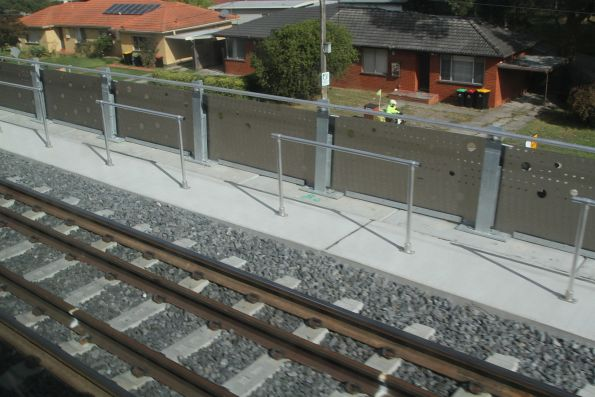 Looking out over the houses of Noble Park from the new elevated tracks