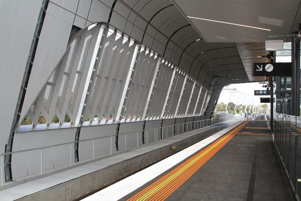 New elevated station building at Noble Park