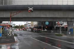 Boom gates go down at Murrumbeena Road in Murrumbeena