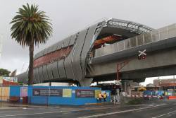 New elevated station building taking shape at Murrumbeena