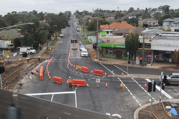 Work ongoing at Chandler Road in Noble Park