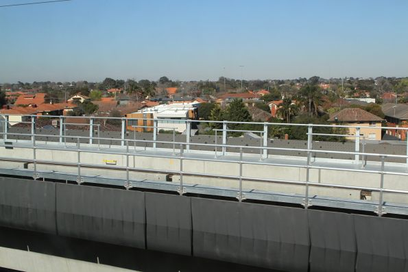 Looking out from the rail viaduct at Murrumbeena