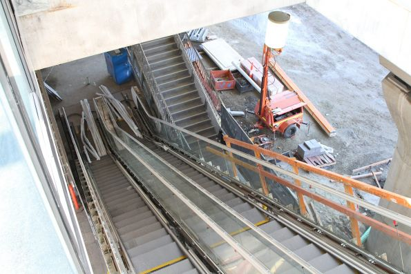 New escalators being commissioned at Hughesdale station