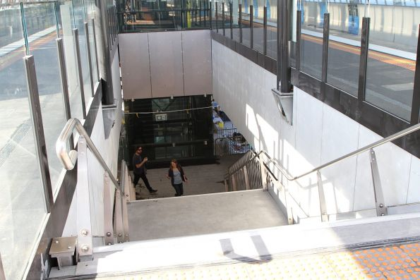 Permanent stairs in place at Hughesdale station
