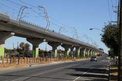 Completed 'Skyrail' viaducts east of Clayton