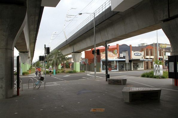 Main entrance to Murrumbeena station from Murrumbeena Road