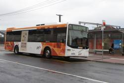 CDC Melbourne #112 rego 6172AO picks up route 406 passengers at Footscray station