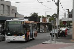 CDC Melbourne bus #104 rego 5934AO arrives into Yarraville with a route 409 service