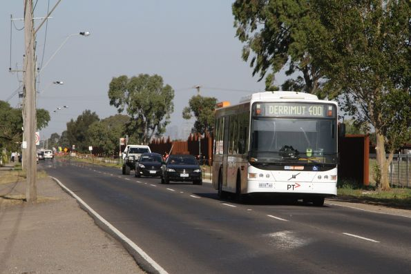 CDC Melbourne bus #127 rego 8818AO on a route 400 service along Fitzgerald Road in Ardeer