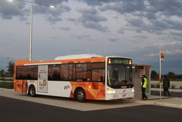 CDC Melbourne bus #128 rego 9074AO on a route 190 service at Wyndham Vale station