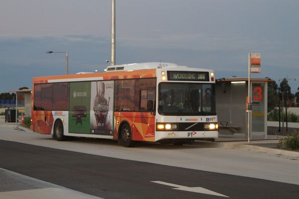 CDC Melbourne bus #90 rego 48554AO on a route 166 service at Wyndham Vale station