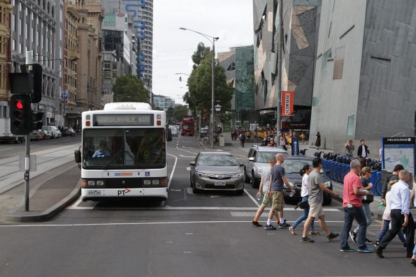 CDC Melbourne 4353AO on a route 605 service at Flinders and Swanston Street