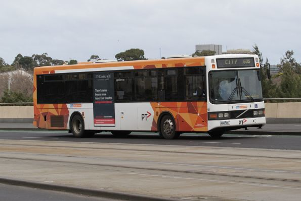CDC Melbourne #96 4942AO on a inbound route 605 service along Exhibition Street Extension