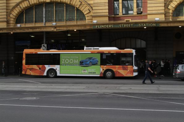 CDC Melbourne #107 on a route 605 service at Flinders Street Station
