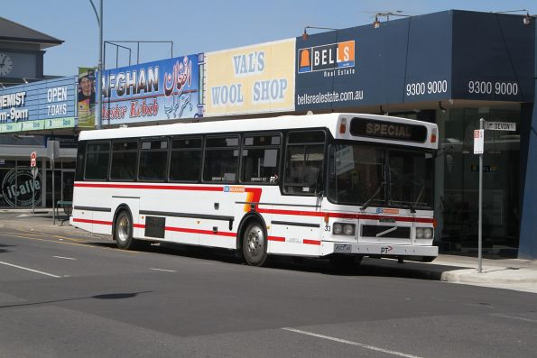 CDC Melbourne high floor bus #33 4927AO between runs in Sunshine