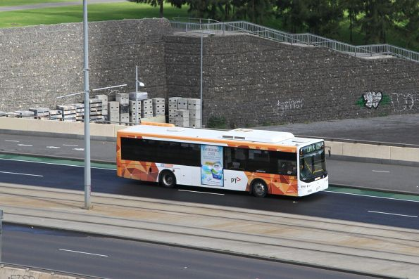 CDC Melbourne bus crosses the Exhibition Street Extension with a route 605 service