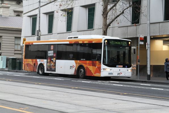 CDC Melbourne #110 5484AO ready to depart the new route 605 terminus at William and Little Lonsdale Streets
