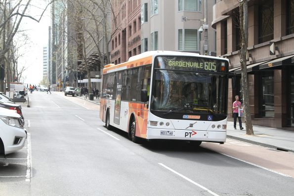 CDC Melbourne bus #125 8011AO on route 605 at Queen and Collins Street