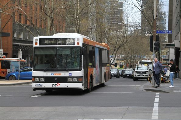 CDC Melbourne bus #104 4353AO on route 605 at Queen and Collins Street