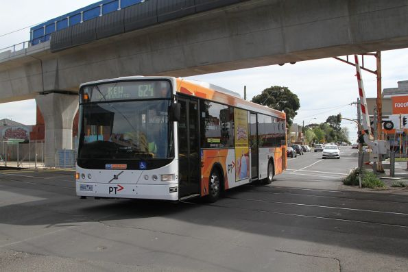 CDC Melbourne bus #131 9582AO southbound on route 624 along Murrumbeena Road, Murrumbeena