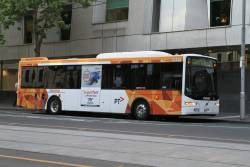 CDC Melbourne bus O98-8015 8015AO on route 605 at William and Lonsdale Street