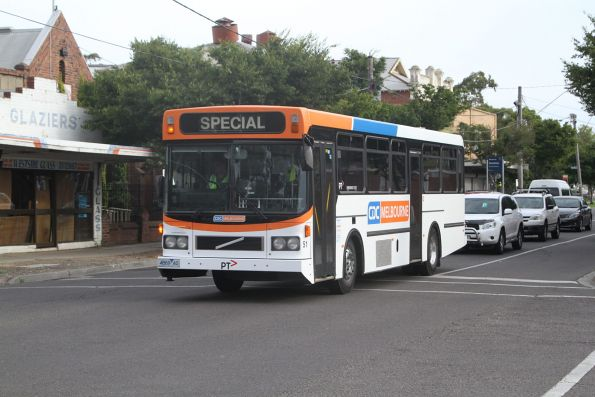 CDC Melbourne high floor bus #51 4869AO on a charter run in Sunshine