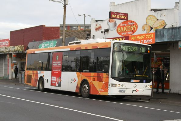 CDC Melbourne bus #75 6087AO on route 410 at Footscray station