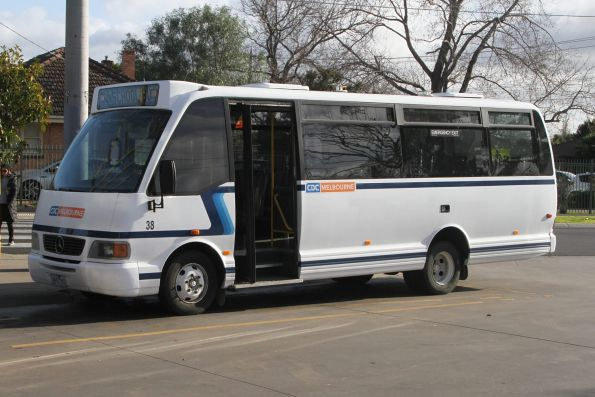 CDC Melbourne midi bus #38 3443AO at Werribee station