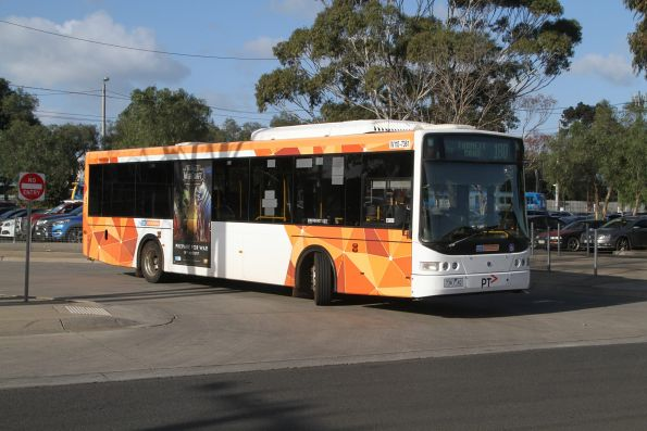 CDC Melbourne bus #110 7361AO departs Werribee station on route 180