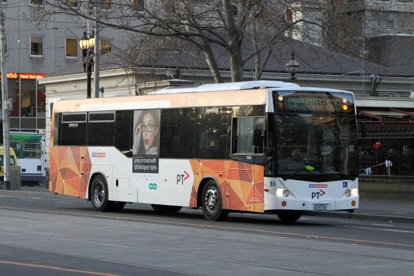CDC Melbourne bus #85 6739AO on route 605 outside Flagstaff station