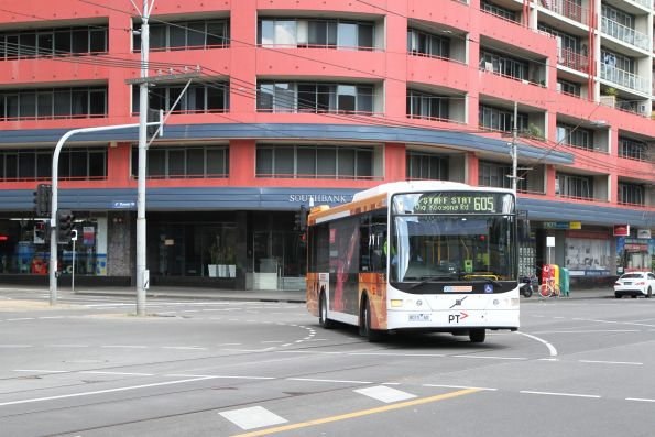 CDC Melbourne bus 8015AO on route 605 at Power and Queensbridge Street