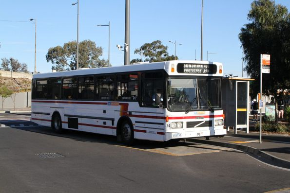CDC Melbourne high floor bus #34 4928AO on route 410 at Sunshine station