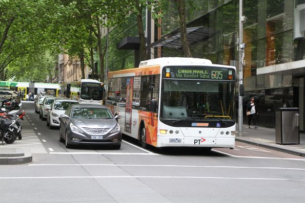 CDC Melbourne bus #115 5892AO on route 605 at Queen Street and Flinders Lane