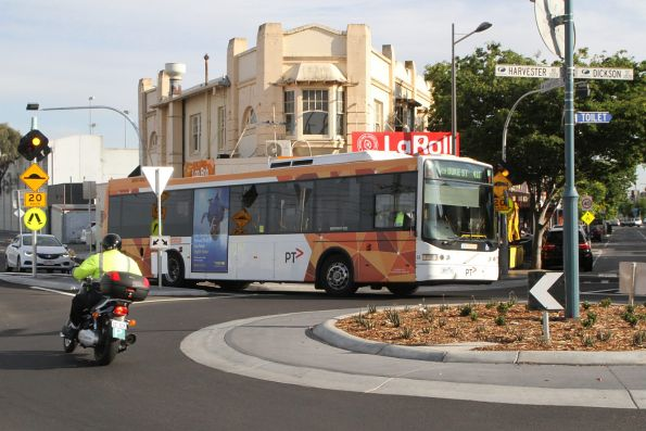 CDC Melbourne bus #64 3887AO on a route 410 service at Sunshine station