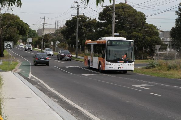 CDC Melbourne bus #65 3997AO heads empty along St Albans Road in Albion bound for Sunshine depot