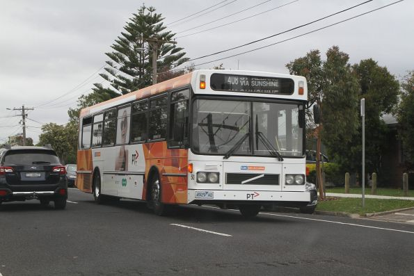 CDC Melbourne high floor bus #50 4929AO on route 408 on Hereford Road in Sunshine