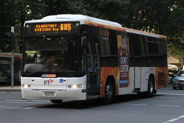 CDC Melbourne bus #32 8232AO on route 605 at Queen and Collins Street