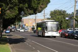 CDC Melbourne bus #99 BS00RP on a school run along Devonshire Road, Sunshine