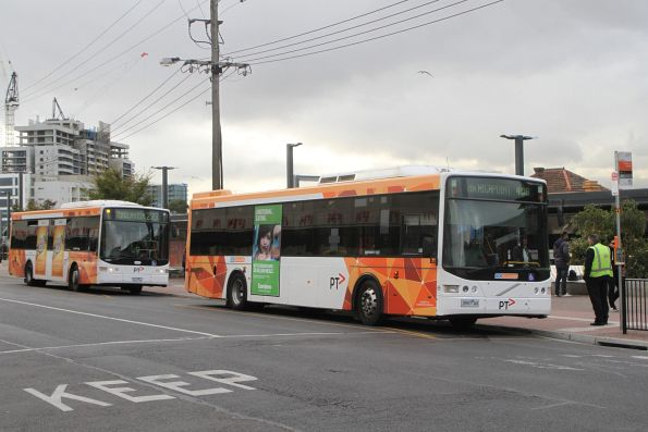 CDC Melbourne bus #65 3997AO on route 406 with Transdev bus 7832AO on route 223 at Footscray station