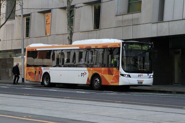 CDC Melbourne bus #143 BS00RL on route 605 at Flagstaff station