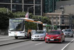 CDC Melbourne bus #149 BS03DO heads north on route 605 over Queens Bridge