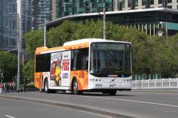 CDC Melbourne bus #132 9583AO on route 605 crosses Queens Bridge