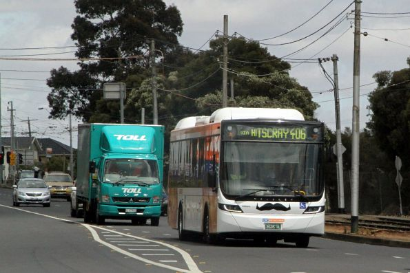 CDC Melbourne hybrid bus BS05HL eastbound on route 406 along Raleigh Road