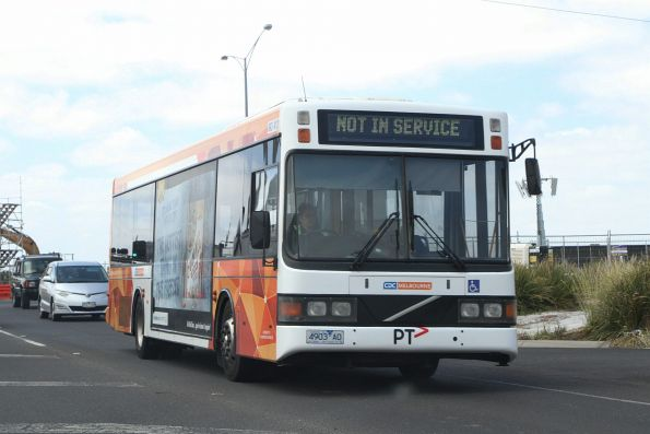 CDC Melbourne bus 4903AO heads out of service along Palmers Road for Williams Landing station