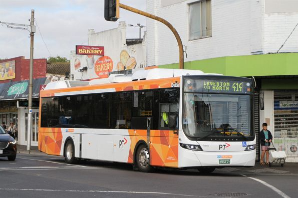 CDC Melbourne hybrid bus #270 BS04ZT on route 414 at Footscray station