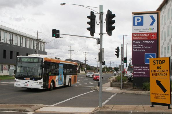 CDC Melbourne bus #112 6172AO on route 408 at Sunshine Hospital