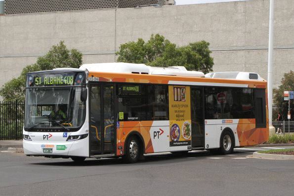 CDC Melbourne hybrid bus BS05HA on route 408 departs Highpoint Shopping Centre