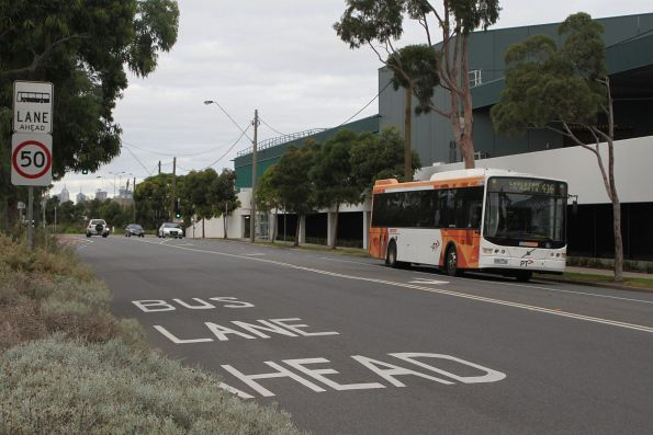 CDC Melbourne bus 9491AO on route 414 passes West Footscray station